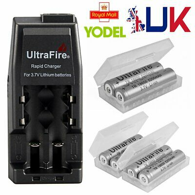 UltraFire WF-139 Charger 18650 Rechargeable Battery 5300mAh 3.7V Li-ion