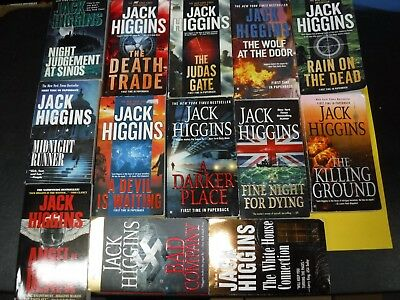 Lot Of 13 Action And Adventure Novels By Jack Higgins