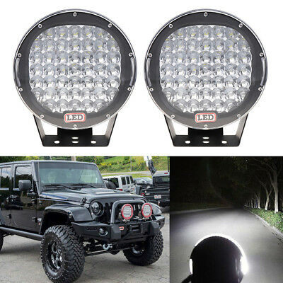 9 Inch 96W Round 32LED Work Light Spot Driving Lamp Headlight Offroad ATV  Plf