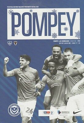 * 2018/19 - PORTSMOUTH v AFC WIMBLEDON (1st January 2019) *