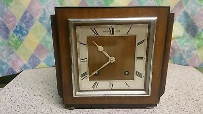 Gerrard Art Deco 8 Day Striking Mantel Clock G.W.O