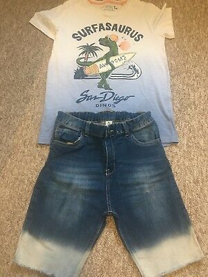 TU Boys Denim Shorts/ T Shirt/ Outfit Age 11-12yrs