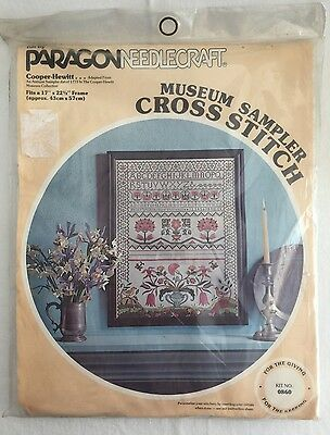Vintage 1978 Embroidery Cross Stitch Kit NEW Museum Sampler