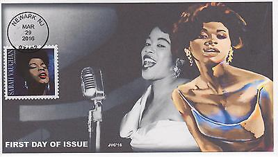 Jvc Cachets-2016 Sarah Vaughan Issue First Day Cover Black Heritage Jazz Music 3