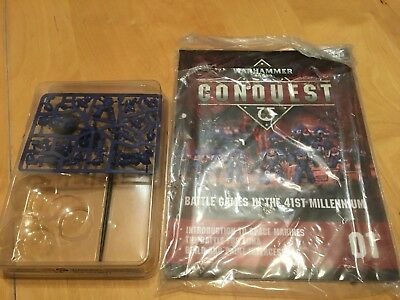 Warhammer 40k: Conquest. Issue 1 - inc. magazine, models and paintbrush