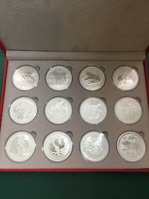 2008-2019 Australia 1oz Silver Lunar Series II $1 Coin Set Perth Mint .9999 Fine
