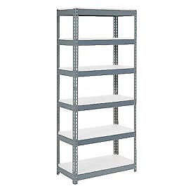 "Boltless Extra Heavy Duty Shelving 36""W x 18""D x 84""H, 6 Shelves,  1500 lbs."