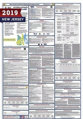 2019 New Jersey State and Federal Labor Law Laminated Poster