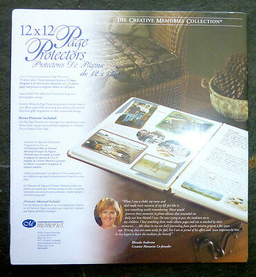 Creative Memories 12x12 Page Protectors 15 +1 Protects 32   NIP Retired 2001
