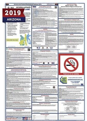 2019 Arizona State and Federal Labor Law Laminated Poster