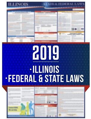 2019 Illinois State and Federal Labor Law Laminated Poster