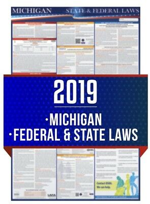 2019 Michigan and Federal Laminated Labor Law Poster