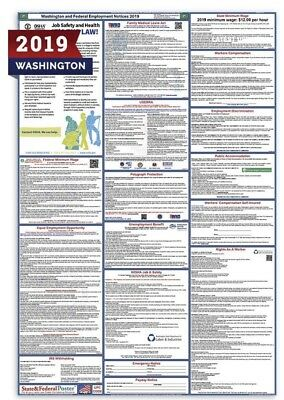2019 Washington State and Federal Labor Law Laminated Poster