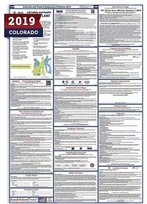 2019 Colorado and Federal Laminated Labor Law Poster
