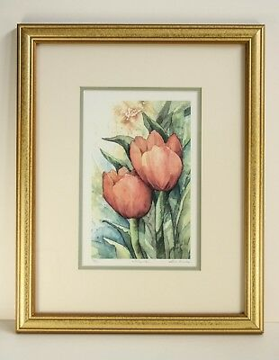 """Owen Wexler """"Tulip Pair"""" LIMITED EDITION SIGNED&NUMBERED FRAMED and MATTED PRINT"""