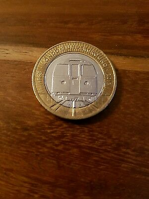 Two Pound £2 Coin - London Underground train