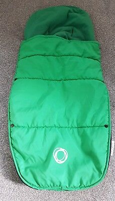 Bugaboo universal green footmuff/cosytoes - fair condition