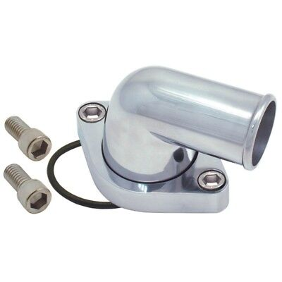 Spectre Chevy 90 Degree Swivel Water Neck - Polished Aluminum - spe4933
