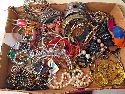 Lot Of 3lbs Vintage To Modern Costume Jewelry Lot A