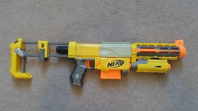 Nerf Recon CS-6 Rifle With Attachments And Bullets Toy Gun