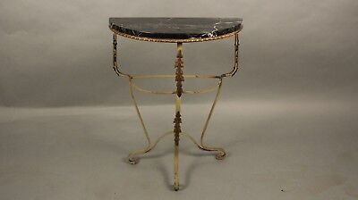Antique 1920's Spanish Revival Tudor Wall Console With Marble Top (11590)