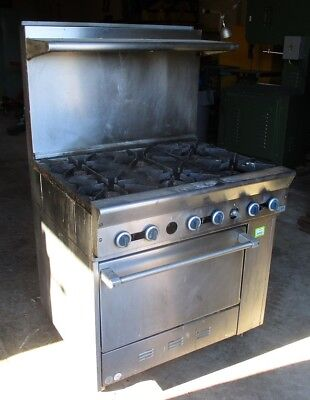 GARLAND GAS RANGE, 6 BURNERS, STAINLESS STL With Shelf, USED - LOCAL PICKUP ONLY
