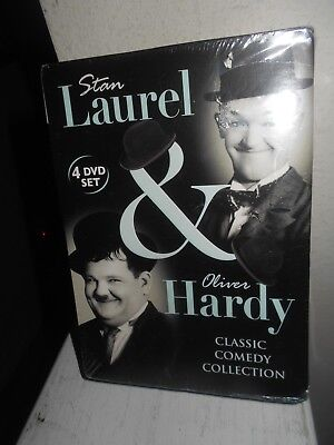Laurel & Hardy Collection 4 DVD Set New Sealed 12 Short/ 2 Feature Films