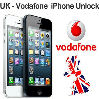 Uk Vodafone Unlock Service For Iphone 3,3Gs,4,4S,5,5C,5S & Iphone 6: 24-72 Hours