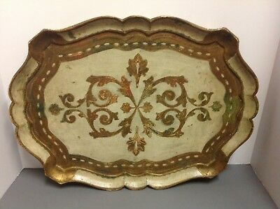 Vintage Toleware French Style Large Serving Tray