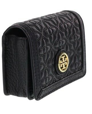 Tory Burch Bryant Leather Foldable Card Case in Black - NWT - $125.00 MSRP!