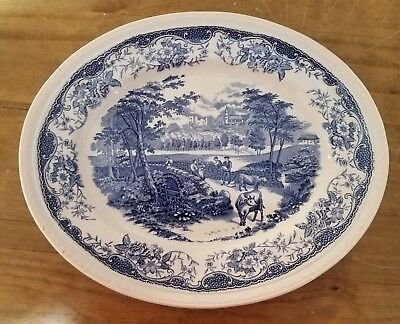Barker Bros Platter Old English Country Crafts Dry Stone Walling - Blue Willow