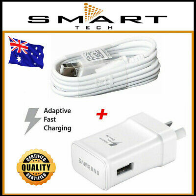 AC Wall Charger Adapter + USB Cable for Samsung Galaxy S4 S5 S6 S7 Edge Note 5