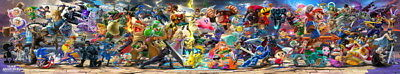 "009 Super Smash Bros - SPECIAL Ultimate Mario Fight Game 75""x14"" Poster"