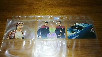 Star Trek Voyager Season 2 Holodeck Chase Insert Card Set 200 201 202 Mint