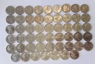 Australian 5 Cent Coin Collection (1966-2018) - 52 Coins - (#2)