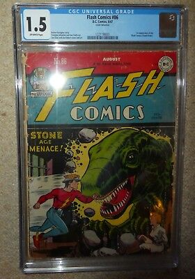 DC COMICS FLASH 86 1st Black Canary Bondage cover 1.5 CGC 1947 golden age