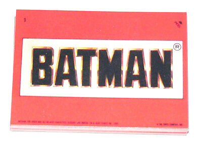 . 1989 Topps BATMAN MOVIE series 1 - 22 sticker set. Stickers only.