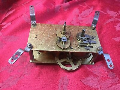 Single Train  Clock Movement For Spares Or Repair Possibly Dial Clock