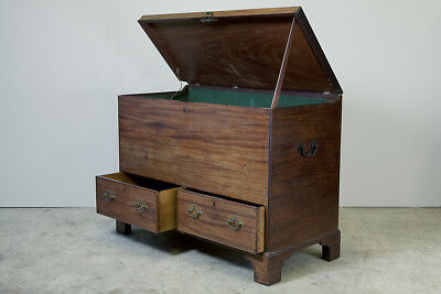 Antique 18th century mule chest, marriage chest, coffee, cupboard, storage