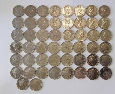 Australian 10 Cent Coin collection 1966 - 2018 (50 Coins) (#1)