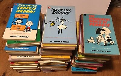73 x PEANUTS BOOKS by Charles Schulz - Coronet / Charlie Brown / 1972-1985 -