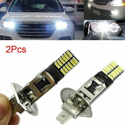 Bright Auto White LED Bulb H1 6500K 24-SMD 4014 Car Fog Light Driving DRL Lamp