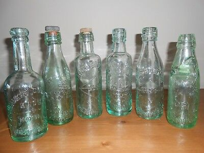 Lovely Group Of Old Antique Mineral/Beer Bottles from the ROSSENDALE VALLEY area