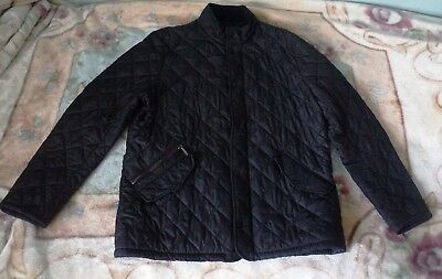 Mens Barbour Chelsea Quilted Jacket, Size L, In Black