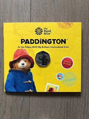 2018 Paddington Bear At The Station 50p Brilliant Uncirculated coin Pack