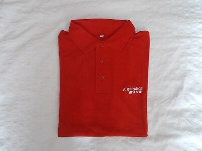 Polo AIR FRANCE rouge Taille 42/44