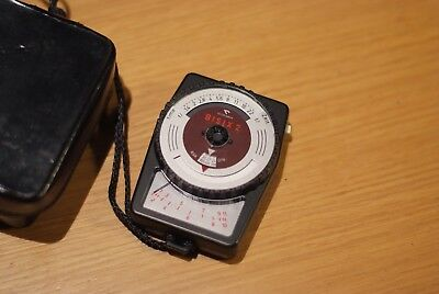 Gossen Bisix 2 Light Meter, Made in Germany, with Case, Vintage, Retro, Rare