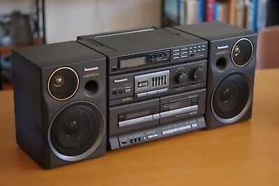 Panasonic AM/FM Stereo, Casette, Boombox, Vintage, Retro, Equalizer, Fully Works