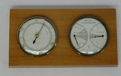 mid century design 60s Edle Lufft Wetterstation Barometer Thermometer Hygrometer