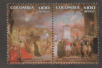 Colombia stamps #C775 & C776.  MHOG  XXL Post Office Fresh!